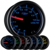 7 Color Volts Gauge- Black 2 1/16""