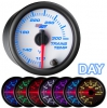7 Color Transmission Temperature Gauge - White