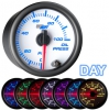 7 Color Oil Pressure Gauge - WHITE 2 1/16""