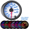 7 Color Air Pressure Gauge - WHITE 2 1/16""