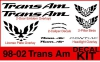 98-02 Trans Am Decal Kit