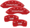 08-09 Pontiac G8 MGP Caliper Covers RED